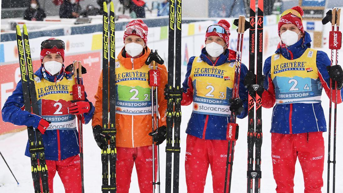 Великий русский лыжник Большунов отыграл 35 секунд у Норвегии за 4 км, но не победил. Россия - 2-я в эстафете на ЧМ