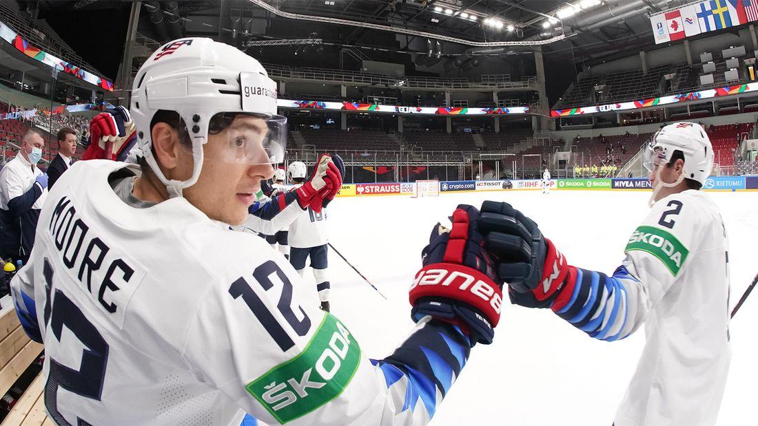 США сыграют со Словакией, Финляндия - с Чехией в 1/4 финала чемпионата мира