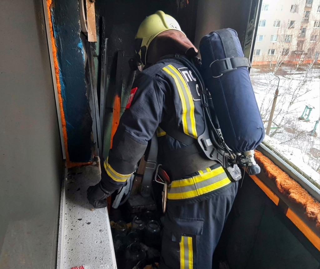 Мужчина получил ожоги при пожаре в Сафонове