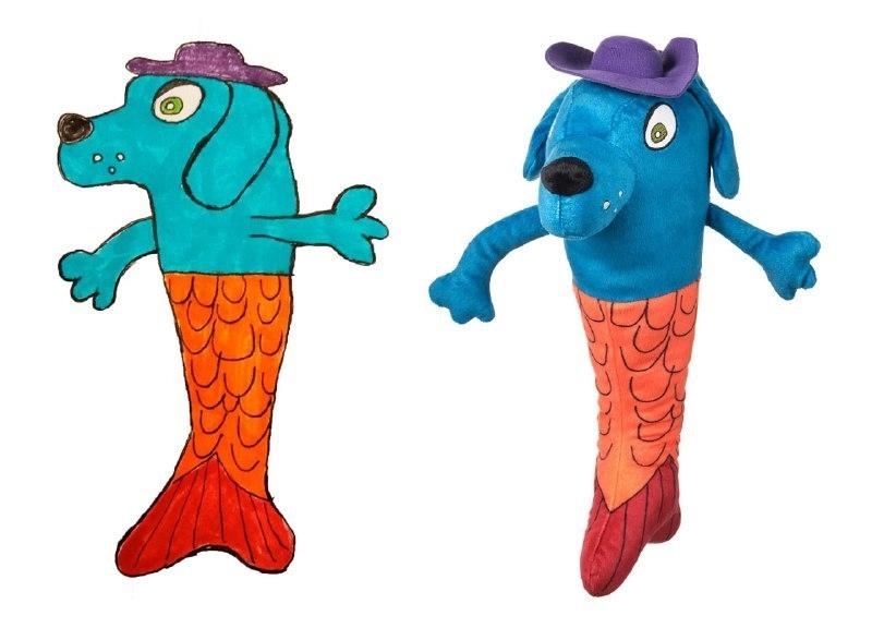 По эскизу петербургского школьника создадут игрушку: что будет делать собака-русалка