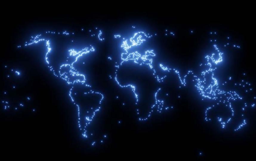 Как страны связаны между собой: показывает канадский картограф Питер Эвтвуд