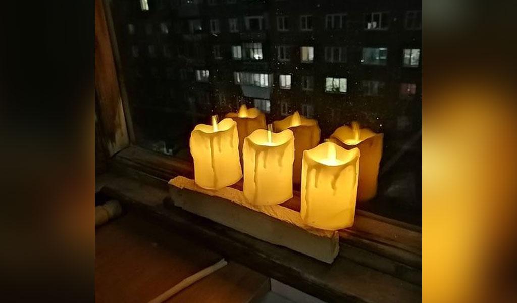 В России в честь 9 Мая прошла акция 'Свет Победы'