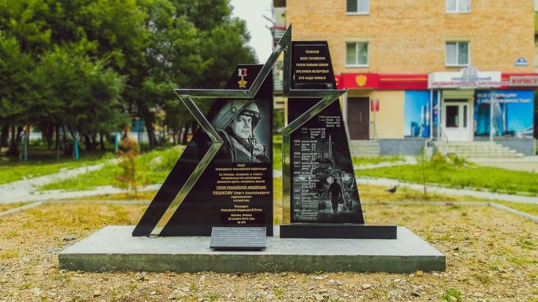 Школьницы осквернили памятник лётчику Пешкову в Приморье