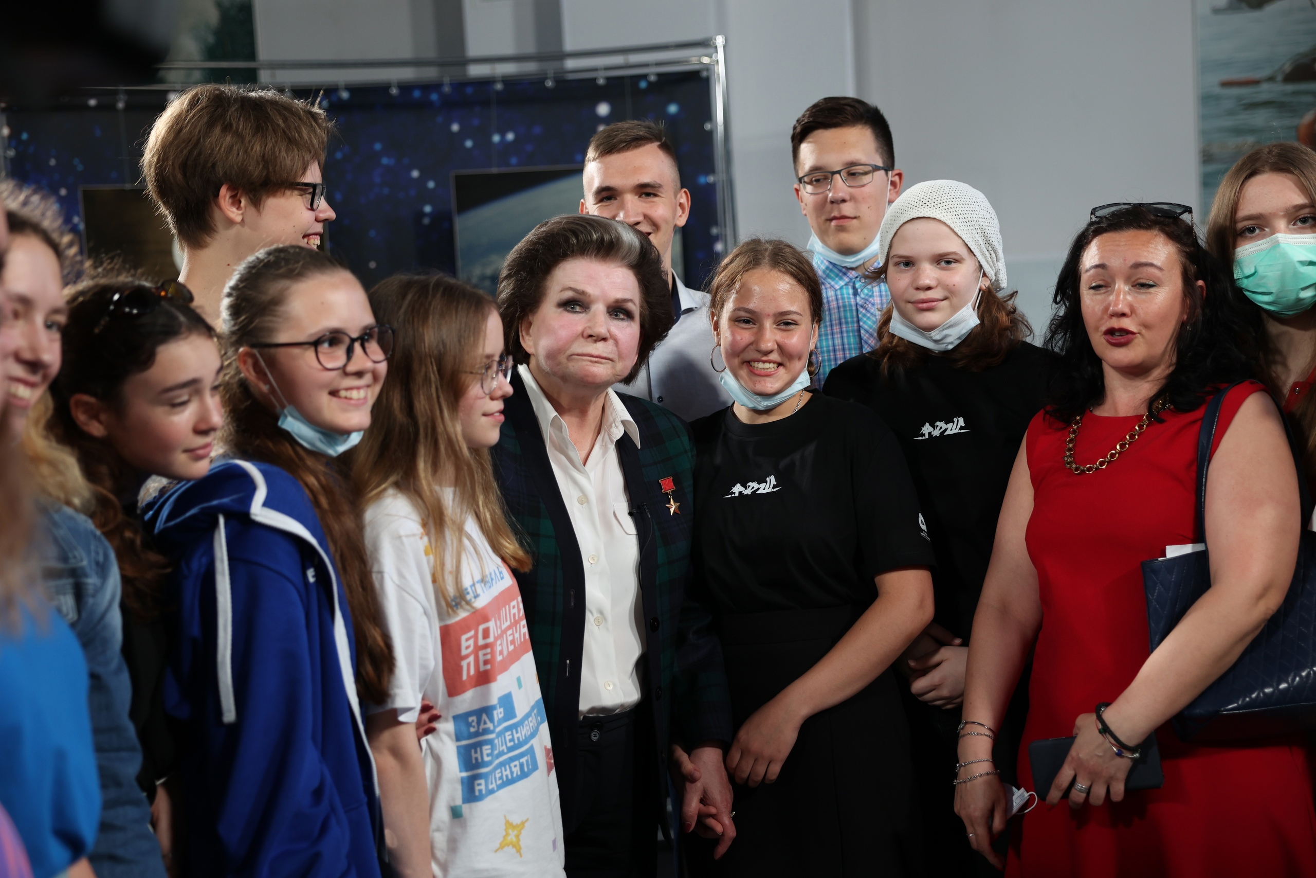 Валентина Терешкова в годовщину полёта в космос встретилась с активистами Российского движения школьников