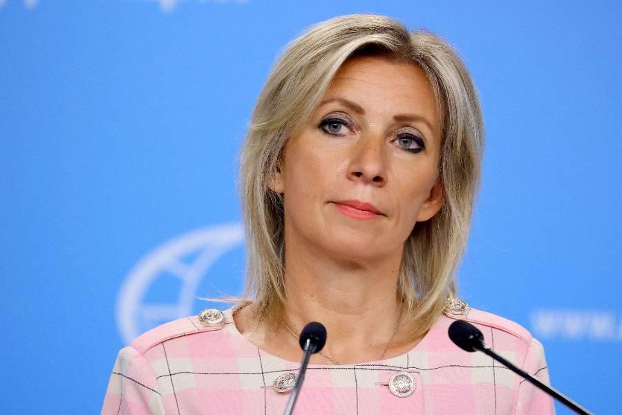 'И как же нам решить проблему с Марией?': Захарова ответила на заявление Меркель и Макрона о России словами из песни