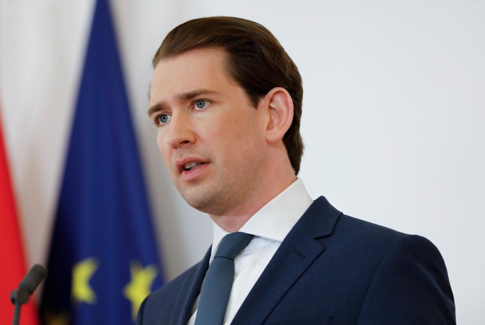 Канцлер Австрии на ПМЭФ поблагодарил Путина за вклад в борьбу с пандемией