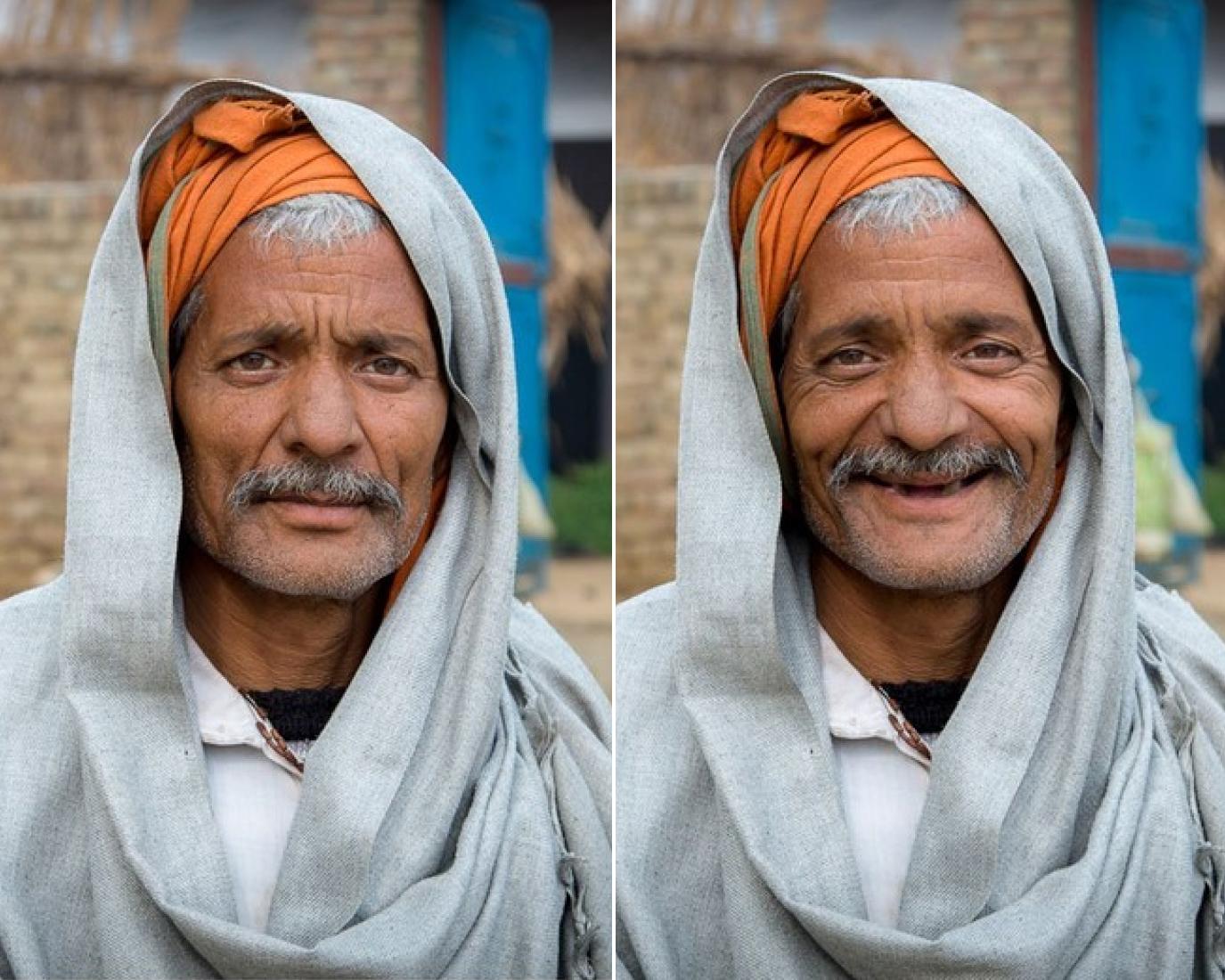 Фотограф попросил прохожих улыбнуться на камеру, и эти фото 'до и после' точно поднимут настроение