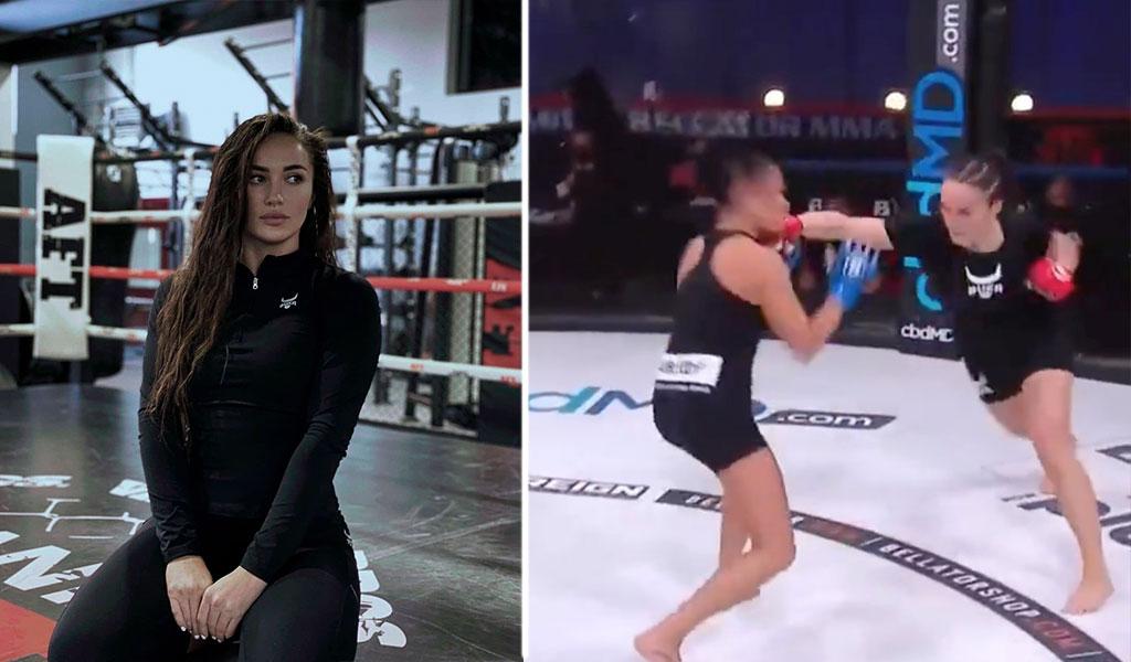 Россиянка Авсарагова нокаутировала соперницу уже на 29-й секунде дебютного боя в Bellator — видео