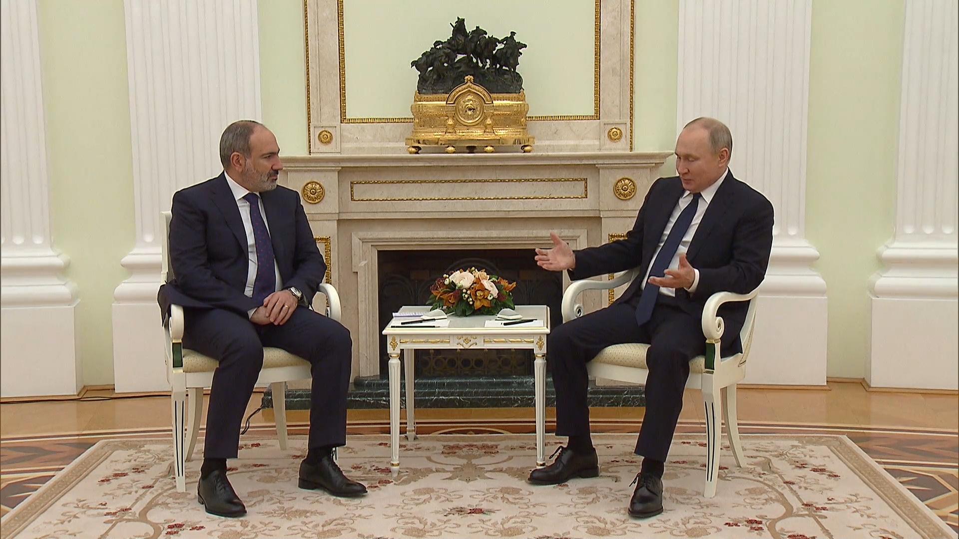 Встреча Путина и Пашиняна в Москве началась с обсуждения Нагорного Карабаха